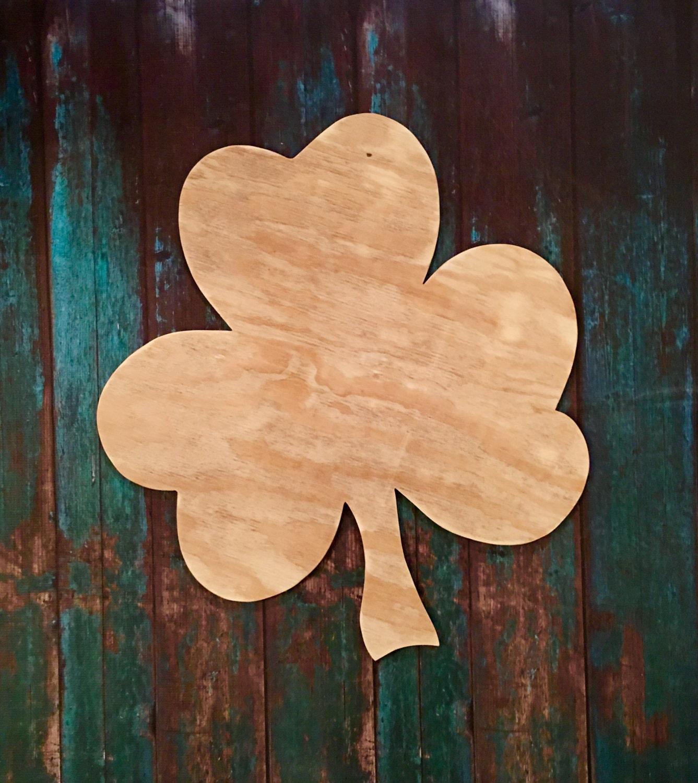 St Patrick S Clover Wood Blank Diy Blank Door Hanger