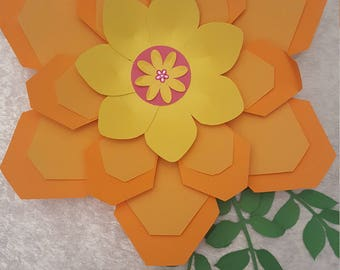 Paper Flower Template  and Base PDF files #11