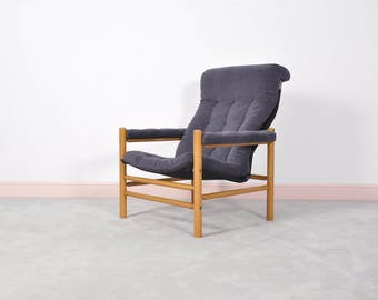 Mid Century Modern Wingback Safari Chair