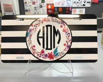 Customized Monogram License Plates