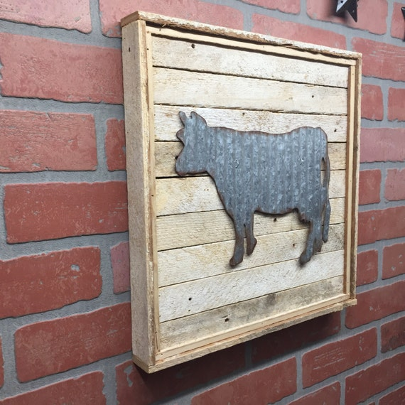 Kitchen Metal Wall Decor: Cow Kitchen Cow Metal Cow Galvanized Cow Cow Decor