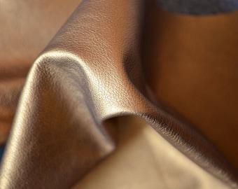 Gold Natural Italian Leather  60cmX55cm , THICKNESS:1,1-1,3 mm   Semi rigid b814
