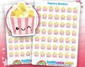 49 pegatinas lindo planificador de palomitas de maíz/cine/película/película Filofax, Erin Condren, planificador feliz, Kawaii, Cute pegatina, Reino Unido