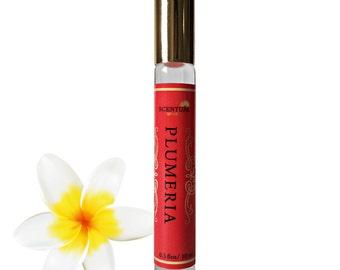 PLUMERIA PERFUME Oil, Organic Plumeria Perfume, Vegan Perfume, Floral Perfume, Holiday Gift, Gifts for Him, Birthday Gift