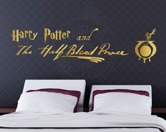 Harry Potter and the Half Blood Prince Book Inspired Wall Vinyl Decal, Home Decor, Laptop Decal, Macbook, Hogwarts, JK Rowling, Always