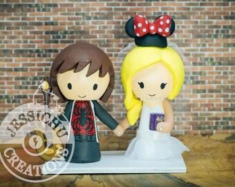 Disney wedding cake topper Etsy