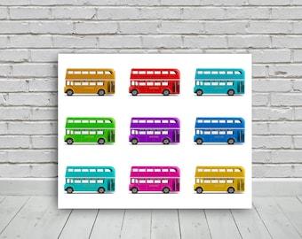london buses, 20x16in, photo digital download,photography,download,print,wall art,photo, digital image,
