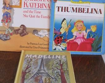 Books, Children's Books, Set of 3 Children's Books, Girls Books