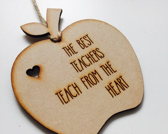Personalised Ornament Apple Teacher Gift Bauble Personalized Christmas Gift Hanging Bauble Gifts for teachers AP2