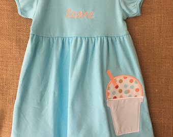 Girls Embroidered Snoball Dress