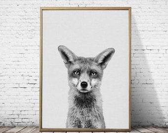 Print fox baby,Baby fox print decor,Woodland nursery,Fox woodland nursery, Baby fox woodland,Nursery woodland fox,Nursery fox art,Printable