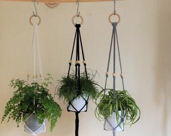Macrame Plant Hanger(85cm); Home decor; wall hanger; cotton rope