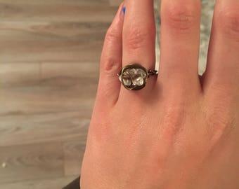 Herkimer Diamond Stone Ring