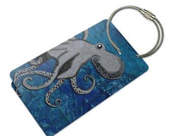 Octopus Suitcase Bag Id Luggage Tag Set