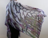 Wing Scarf, Silk scarf,Long Scarf, Summer Scarf,Wrap Scarf,Wing Shawl,Art Scarf,Gift for Her,Unique,Scarf Art,Wing on Wrap,Over Size Scarf