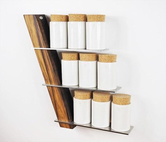teeregal gew rzregal k chenregal eiche edelstahl geschenk. Black Bedroom Furniture Sets. Home Design Ideas