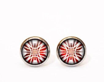 Red Earrings for Mom, for Women, for Sister, for Girlfriend, Friend Tiny Stud Earrings Small Dainty earrings Everyday earrings Stud Earrings
