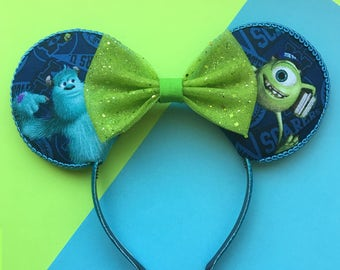 Monsters Inc Mouse Ears, Sully and Mike Wazowski Ears, Monsters University Mickey Ears