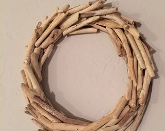Driftwood Wreath - Authentic 'Bleached' Driftwood Home Decor