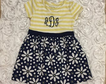FREE SHIPPING, Toddler dress, Monogram baby dress, personalized outfit, infant dress, toddler girl outfit, summer dress, toddler outfit