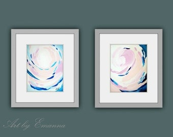 """SALE, Original Painting, Abstract painting, Contemporary Art, Set of 2 painting, Modern Painting on Paper 11""""x15"""""""