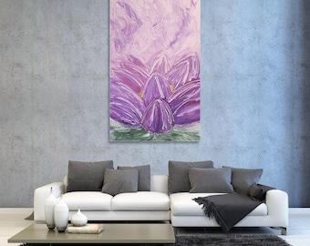 "Abstract art painting ""Lotus"""