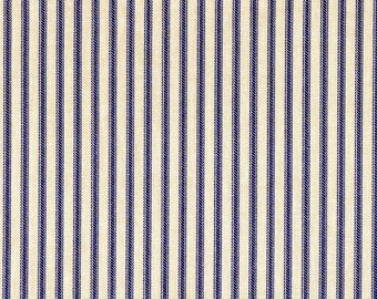 Lavender Ticking Stripe Cotton Fabric By-the-Yard