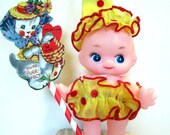 Handcrafted Valentine Doll Cupid Clown