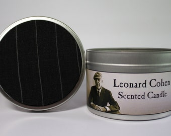 Leonard Cohen - Scented Candle | Unique gift | Musician |  pop culture gift | Soy Candle
