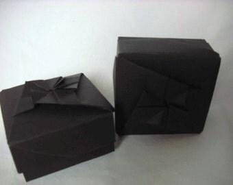 Matte Black Origami Box