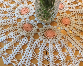 Vintage Crochet Doily Set, Round Crochet Table Topper- A Set Of Three