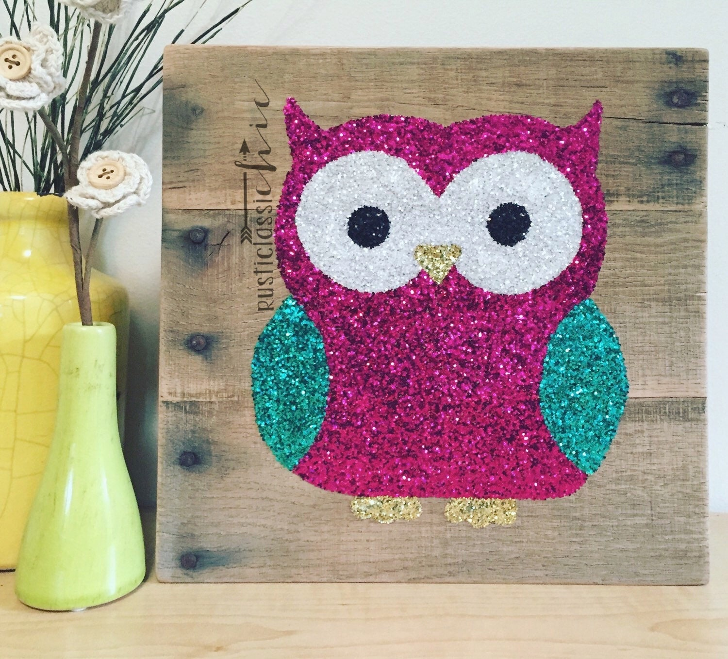 Baby girl nursery owl decor woodland creatures woodland - Girl owl decor ...