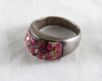 Indian ruby gemstone ring