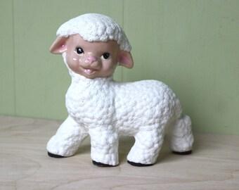 Vintage Creepy Ceramic Lamb