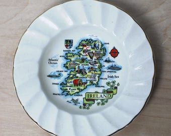 Vintage Ireland Souvenir Plate - Carrigaline Pottery Cork Ireland