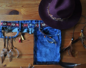 Hip - bag, belt with Pocket, festivalbelt. Boho chic style.