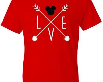 Mickey Disney Love Glitter T-shirt