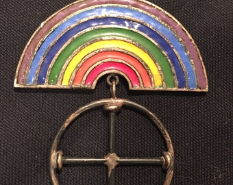 Rainbow and Odins Cross Pendant
