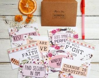 Bible verse cards, Christian gift, encouragement card, encouragement gift, gift card, card sets, christian motivation, scripture art, rest i