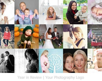 Year In Review Templates - Lightroom Print Templates, Year In Review board, Story board, Blog board