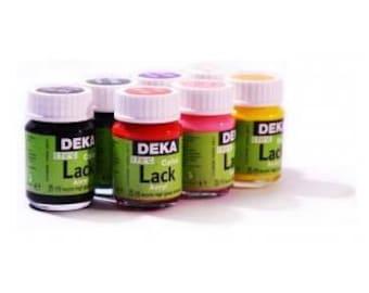 Varnish yellow acrylic Deka Lack 25 ml