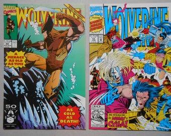Wolverine #44, #55; comic lot 2; Wolverine vol. 1; Logan movie; The Hand; Gambit; Jubilee; High Grade!