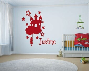 Sticker name flying Castle
