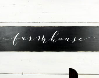 Farmhouse Sign - Farmhouse Decor - Rustic Decor - Rustic Sign - Rectangle sign - Black and White Sign