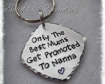 Nanna Keyring, Nanny Keyring, Only The Best, Grandma Keyring, Granny Keyring, Keychain, Personalised, Handstamped, Mother's Day