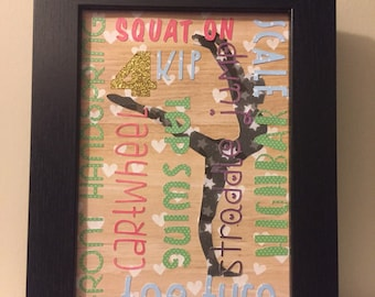 Level 4 Gymnastics Framed Wall Decor 5x7 In Stock Ready to Ship! Multiple Designs