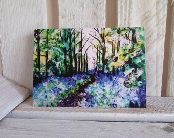 Bluebell Woods Greeting Card **Free postage on this card to UK & Europe**