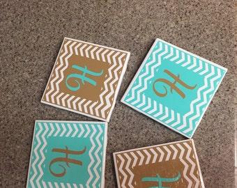 4 piece tile coaster set