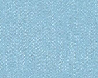 Blue Lucky Denim - Lucky Star by Zoe Pearn for Riley Blake, faux denim, cotton, spandex, knit, 4way stretch, jersey, lycra, K4835R-BLUE