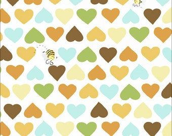 Multicoloured Hearts Susybee Fabric Coordinate SB20208-330 juvenile susy bee cotton woven zoe the giraffe oolie the monkey lyon the lion